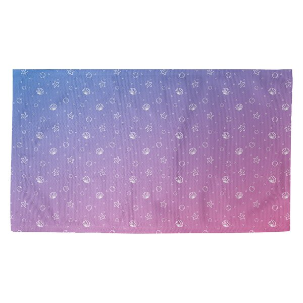 Avicia Seashell Blue/Pink Area Rug