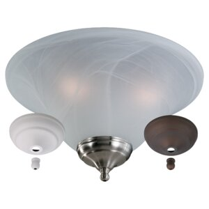3-Light 60W Bowl Ceiling Fan Light Kit
