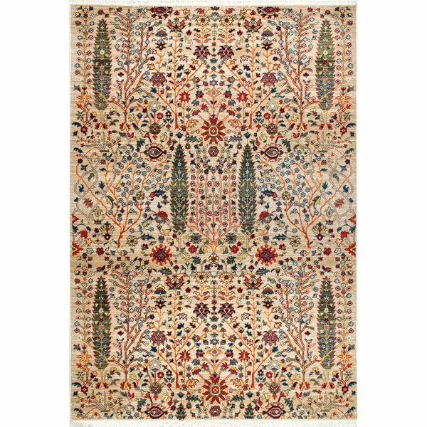 Marianna Olive/Red Area Rug by Bloomsbury Market