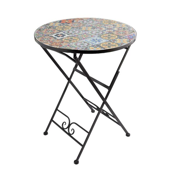 Mosaic Folding Bistro Table by Wind & Weather
