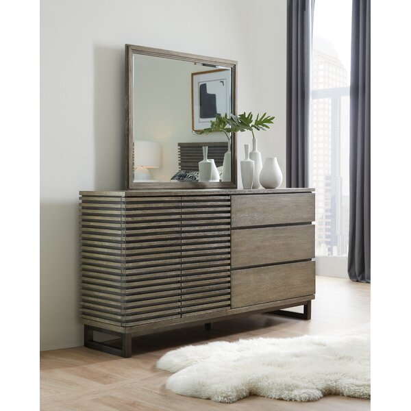 Annex 3 Drawer Combo Dresser with Mirror by Hooker Furniture