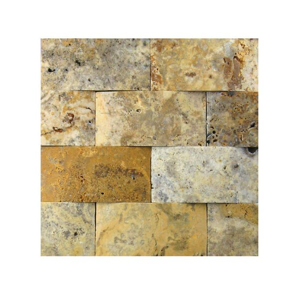 3D Honed 2 x 4 Natural Stone Mosaic Tile in Fantastico by QDI Surfaces