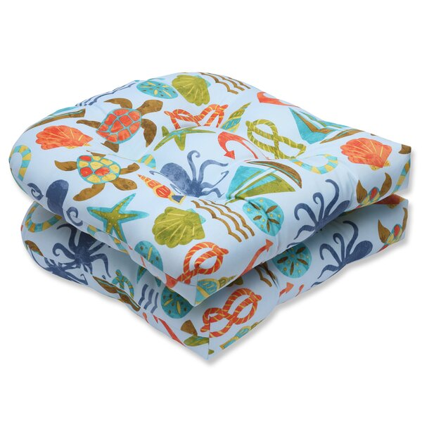 Seapoint Indoor/Outdoor Dining Chair Cushion (Set of 2) by Pillow Perfect
