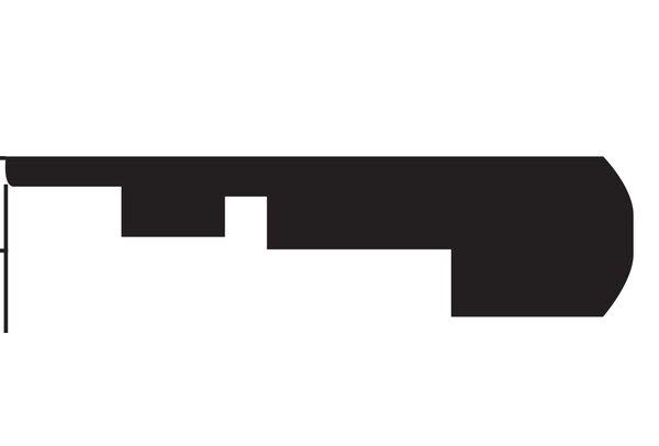 Tatum 0.75 x 2.1 x 94.5 Stair Nose in Clapboard by Serradon