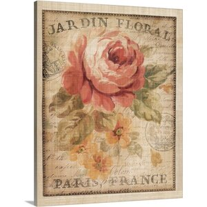 Parisian Flowers II by Danhui Nai Graphic Art on Wrapped Canvas by Great Big Canvas