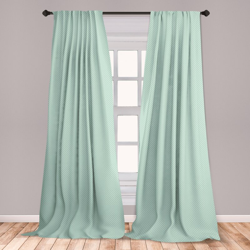 Ambesonne Green 2 Panel Curtain