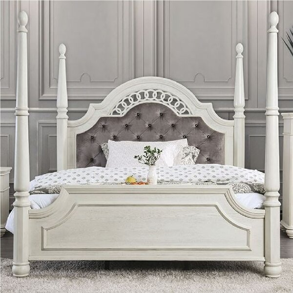 Zebediah Upholstered Four Poster Bed by Rosdorf Park