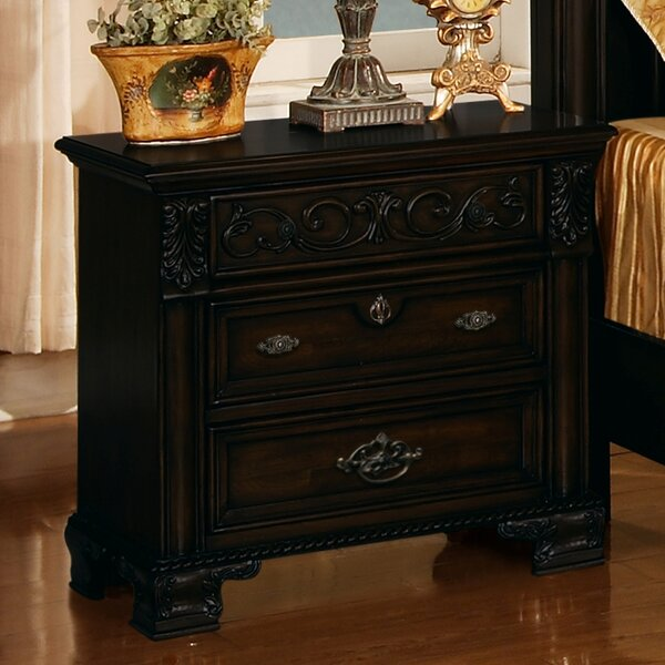 Kensington 3 Drawer Nightstand by Wildon Home ®