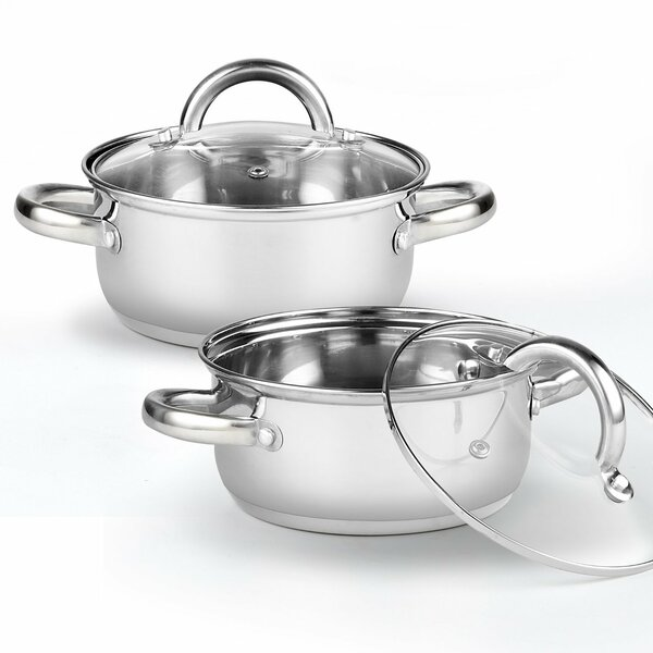 1.5-qt.Saucier with Lid (Set of 2) by Cook N Home