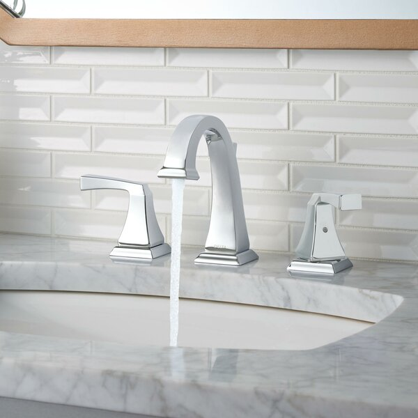 Dryden® Widespread Bathroom Faucet with Drain Assembly and Diamond Seal Technology by Delta