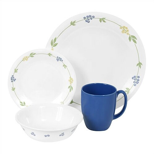 Livingware Secret Garden 16 Piece Dinnerware Set, Service for 4 by Corelle