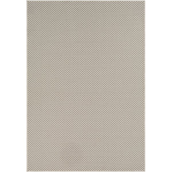 Midwest Solid Ivory/Charcoal Area Rug