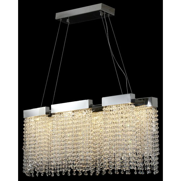 Lorrie Unique / Statement Square / Rectangle LED Chandelier By House Of Hampton