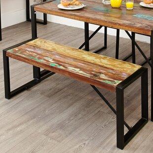 Tejas Wood/Metal Dining Bench ...