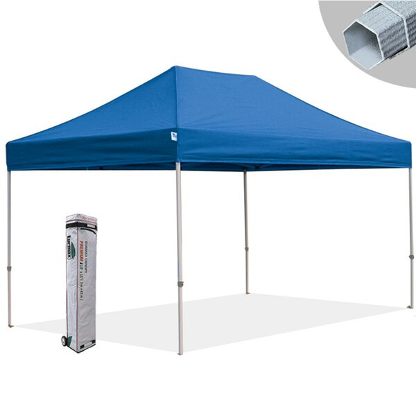 Premium 10 Ft. W x 15 Ft. D Metal Pop-Up Canopy by Eurmax