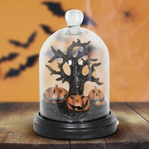 Halloween Dome Tree and Pumpkins Lighted Display
