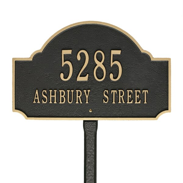 Fitzwilliams 2 Line Lawn Address Sign By Old Century Forge.