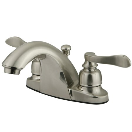 NuWave French Centerset Bathroom Sink Faucet with ABS Pop-Up Drain by Kingston Brass