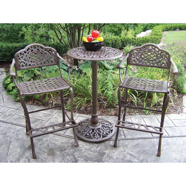 Mississippi 3 Piece Bar Height Dining Set by Oakland Living