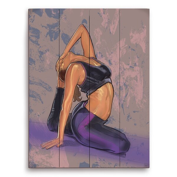 Jana Yoga Pose Painting Print on Plaque by Click Wall Art