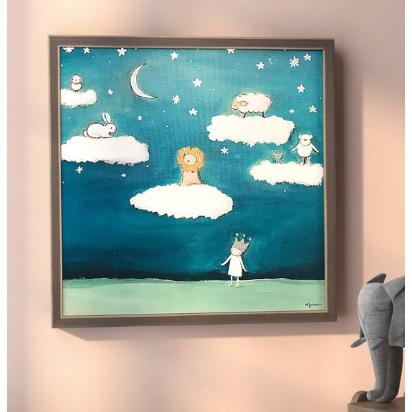 Mahal Dreamers Embellished Stretched Framed Canvas Art by Harriet Bee