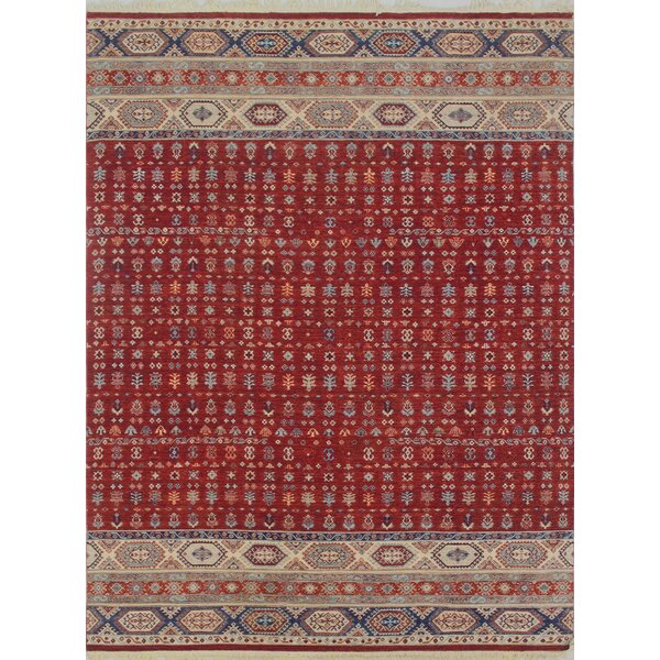 One-of-a-Kind Trevor Parwaiz Hand-Knotted Wool Red Area Rug by Bloomsbury Market