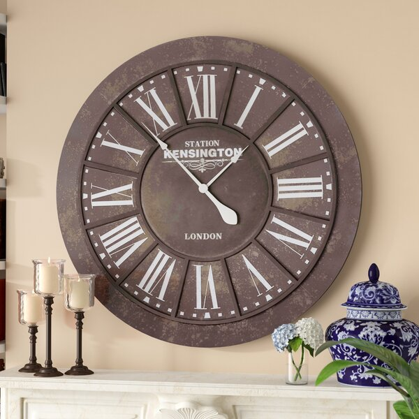 Countryman Oversized 39.5 Wall Clock by Darby Home Co