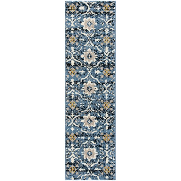 Dalrymple Blue/Cream Area Rug by Charlton Home