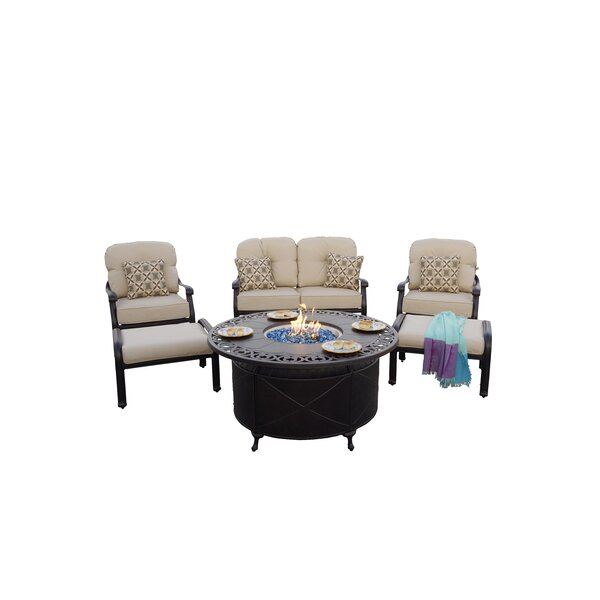 Burgett 6 Piece Sofa Seating Group with Cushions by Canora Grey