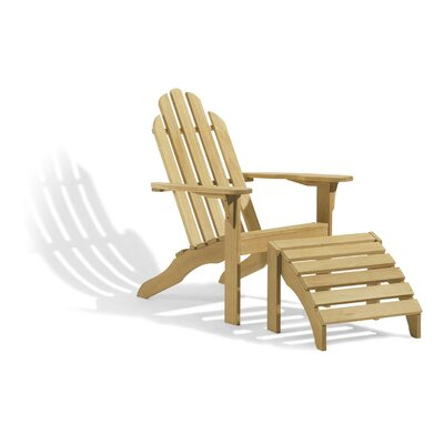 Wood Adirondack Chair Highland Dunes
