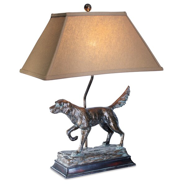 Nia Hunting Dog 28 Table Lamp by Millwood Pines
