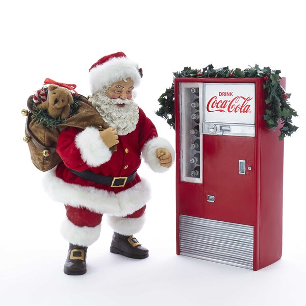 Santa with Coke Machine Figurine by Kurt Adler