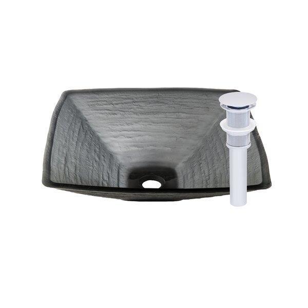 Croccante Glass Circular Vessel Bathroom Sink by Novatto