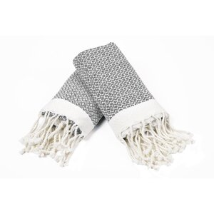 100% Cotton Diamond Weave Tassled Hand Towel (Set of 2)