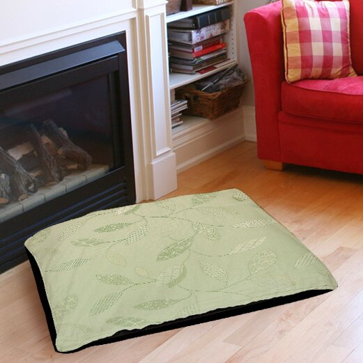 Leaves Narrow Indoor/Outdoor Pet Bed by Manual Woodworkers & Weavers