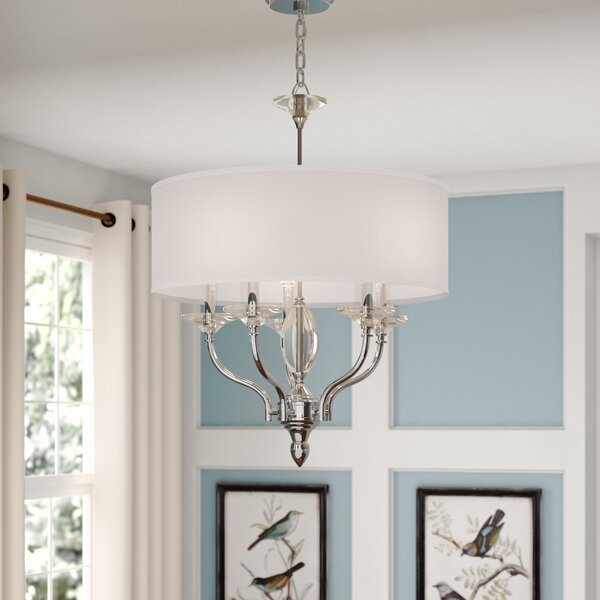 Manuela 5 - Light Unique / Statement Drum Chandelier by Darby Home Co Darby Home Co
