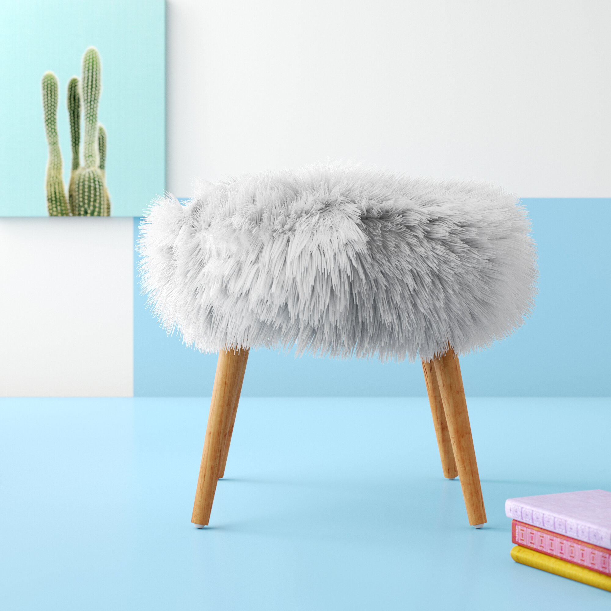 Incredible Hashtag Home Hovland Faux Fur Stool Vanity Stool Reviews Caraccident5 Cool Chair Designs And Ideas Caraccident5Info