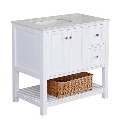 Three Posts Open Cabinet Single Bathroom Vanity Set Top Vanities