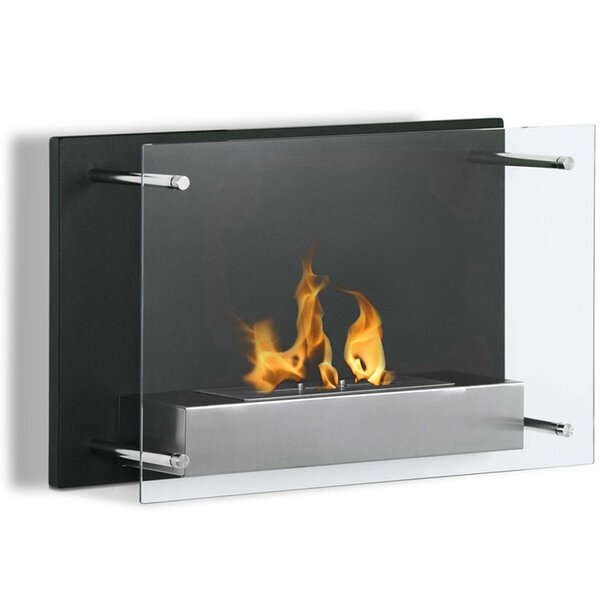 Skandar Ventless Wall Mounted Bio-Ethanol Fireplace By Orren Ellis