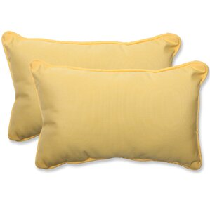 canvas outdoor sunbrella lumbar pillow set of 2