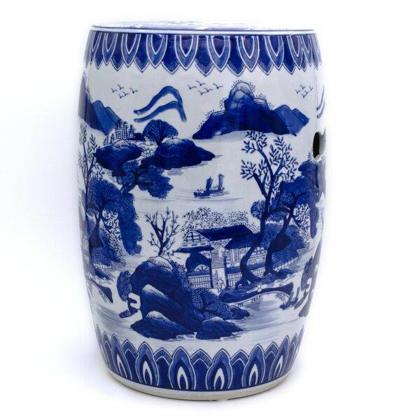 Prater Blue Landscape Garden Stool by World Menage