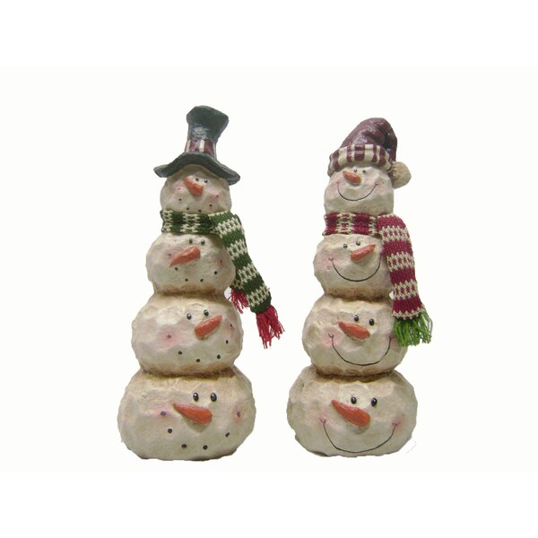 2 Piece 4 Layer Snowman Set by The Holiday Aisle