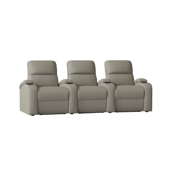 Genuine Leather Home Theater Row Seating (Row Of 3) By Winston Porter