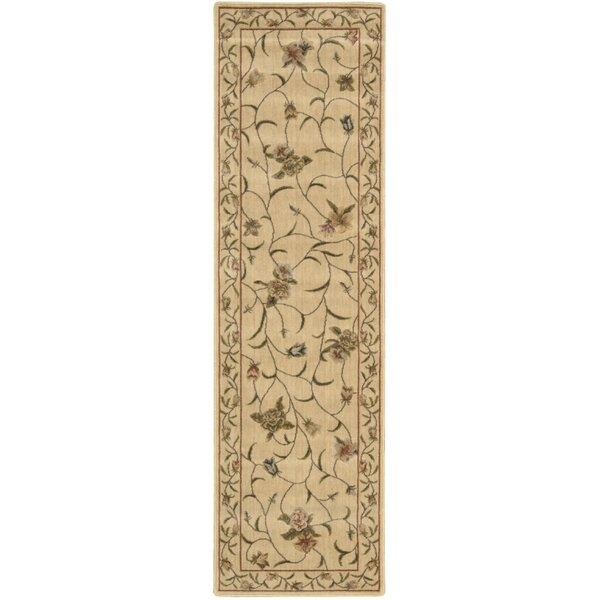 Merton Hand-Woven Ivory/Green Area Rug by Charlton Home