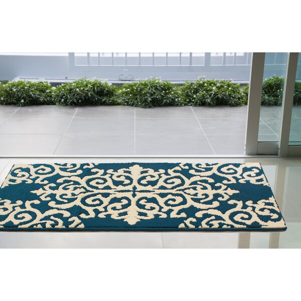 Are Blue/Ivory Area Rug by House of Hampton