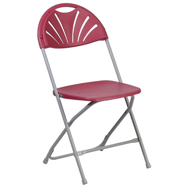 Laduke Plastic Fan Back Folding Chair by Symple Stuff