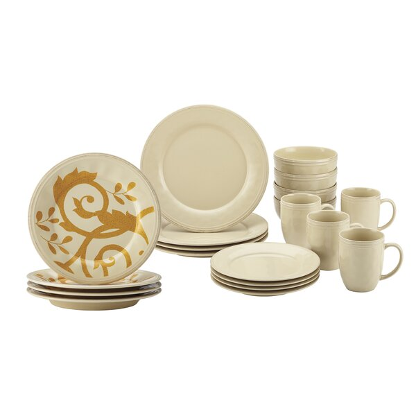 20 Piece Dinnerware Set, Service for 4 by Rachael Ray