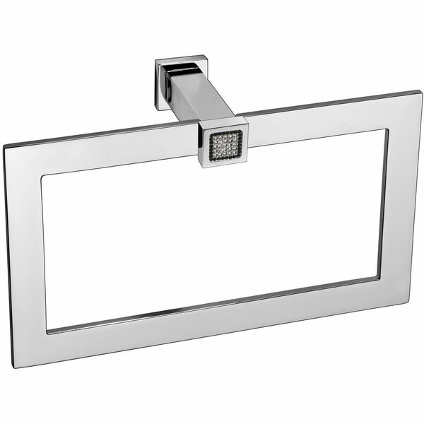 Patrice Rectangular Towel Ring With Swarovski by Rosdorf Park