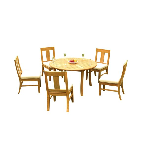 Kevon 6 Piece Teak Dining Set by Rosecliff Heights