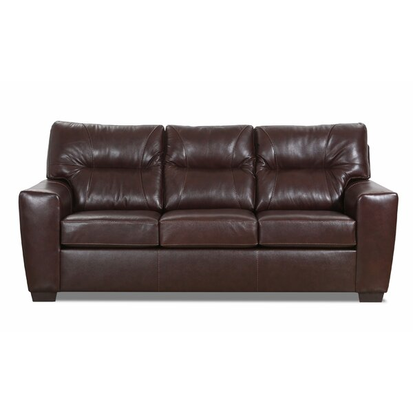 Valuable Today Ogden Leather Sofa by Williston Forge by Williston Forge